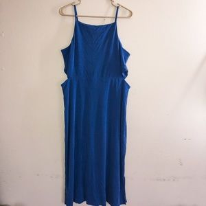 TopShop Blue Maxi Dress With Cutouts Size 12